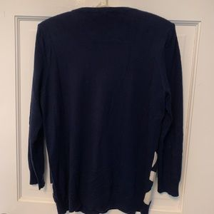Joie Sweaters - Joie - Navy Blue White Anchor Pull Over Sweater